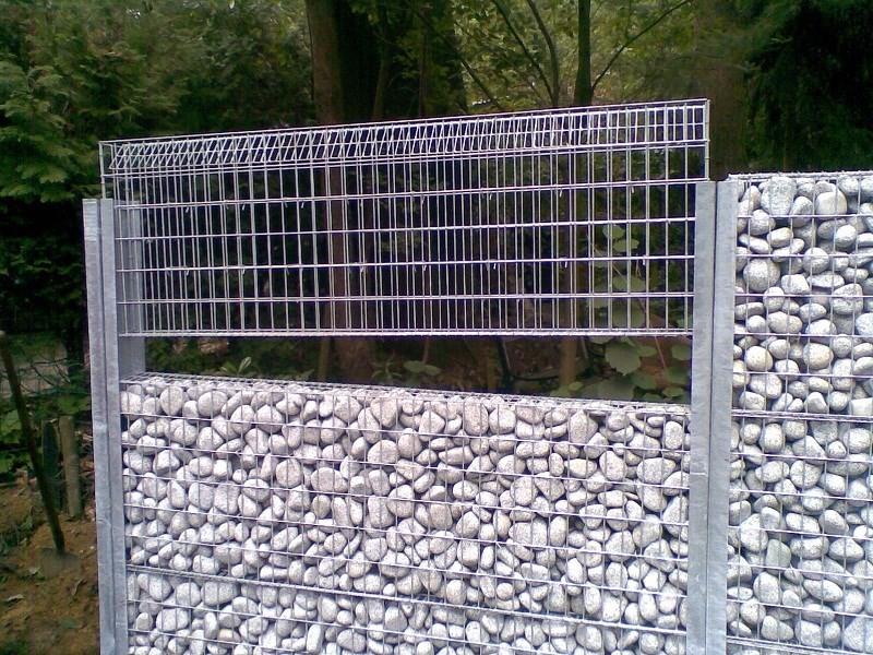 mur et cl ture en gabions. Black Bedroom Furniture Sets. Home Design Ideas