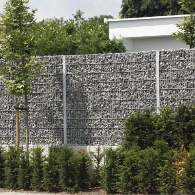 Mur de cloture gabion